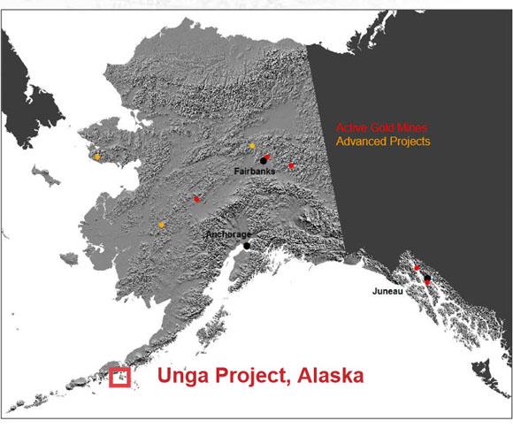Redstar Unga Alaska map