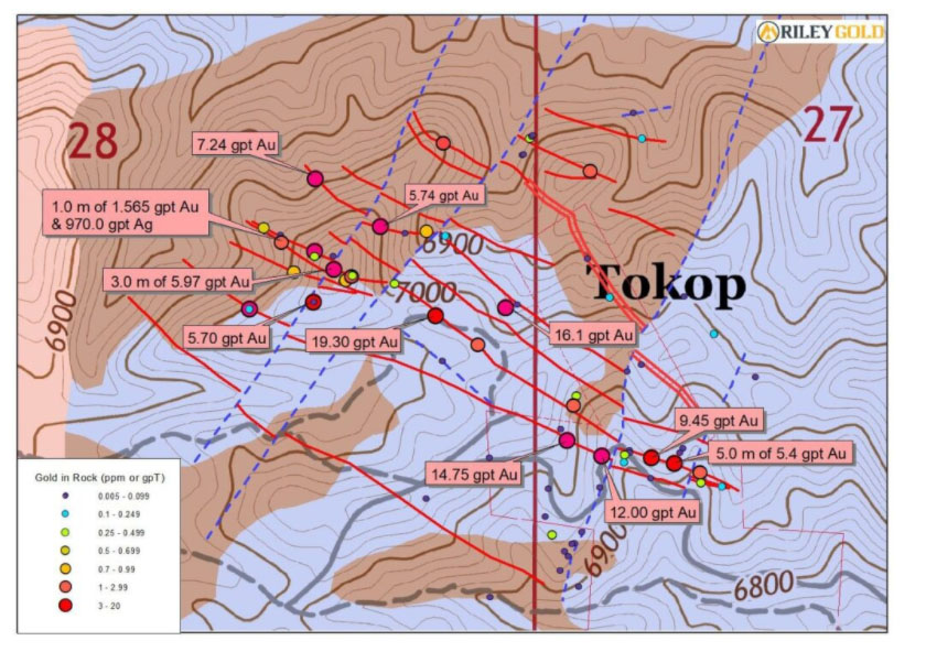 Riley Gold Tokop Map