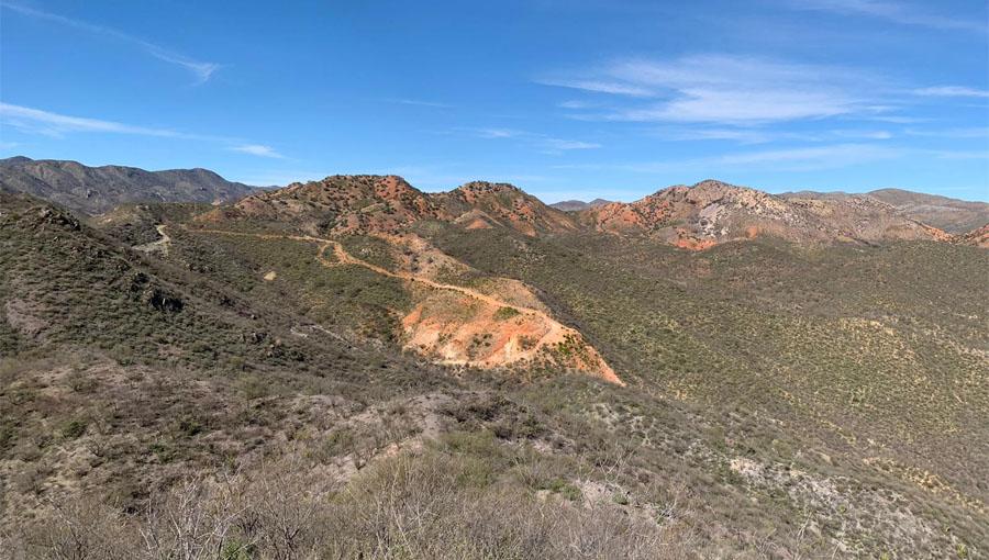Los Cuarentas Gold Project (Santa Rosalia Sur Target) looking NNW