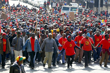 south africa strike