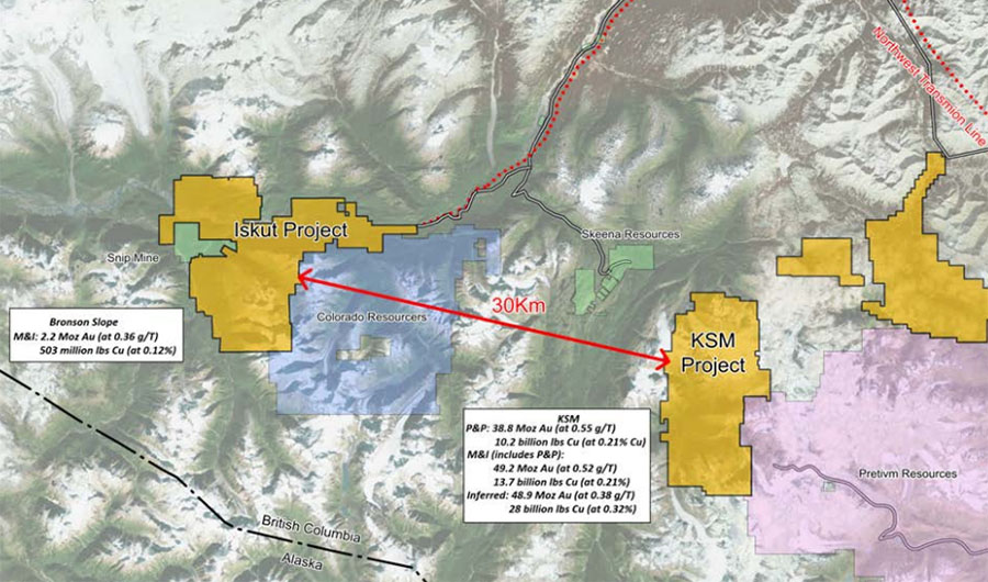 Seabridge's Iskut Project Map
