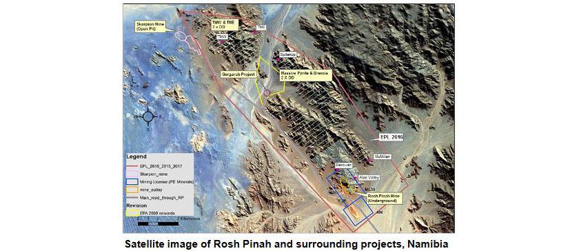 Rosh Pinah Zinc Mine, Namibia