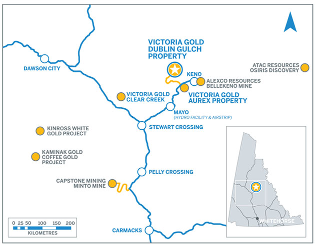 Victoria Gold Project Map