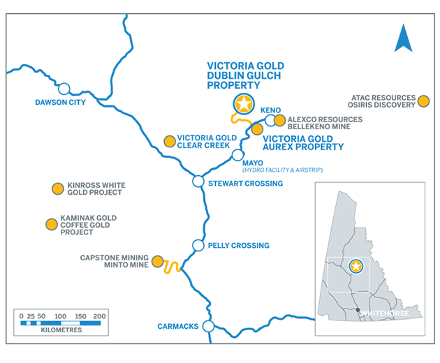 Victoria Gold Property Map
