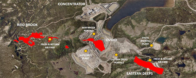 Voisey's Bay Site Layout