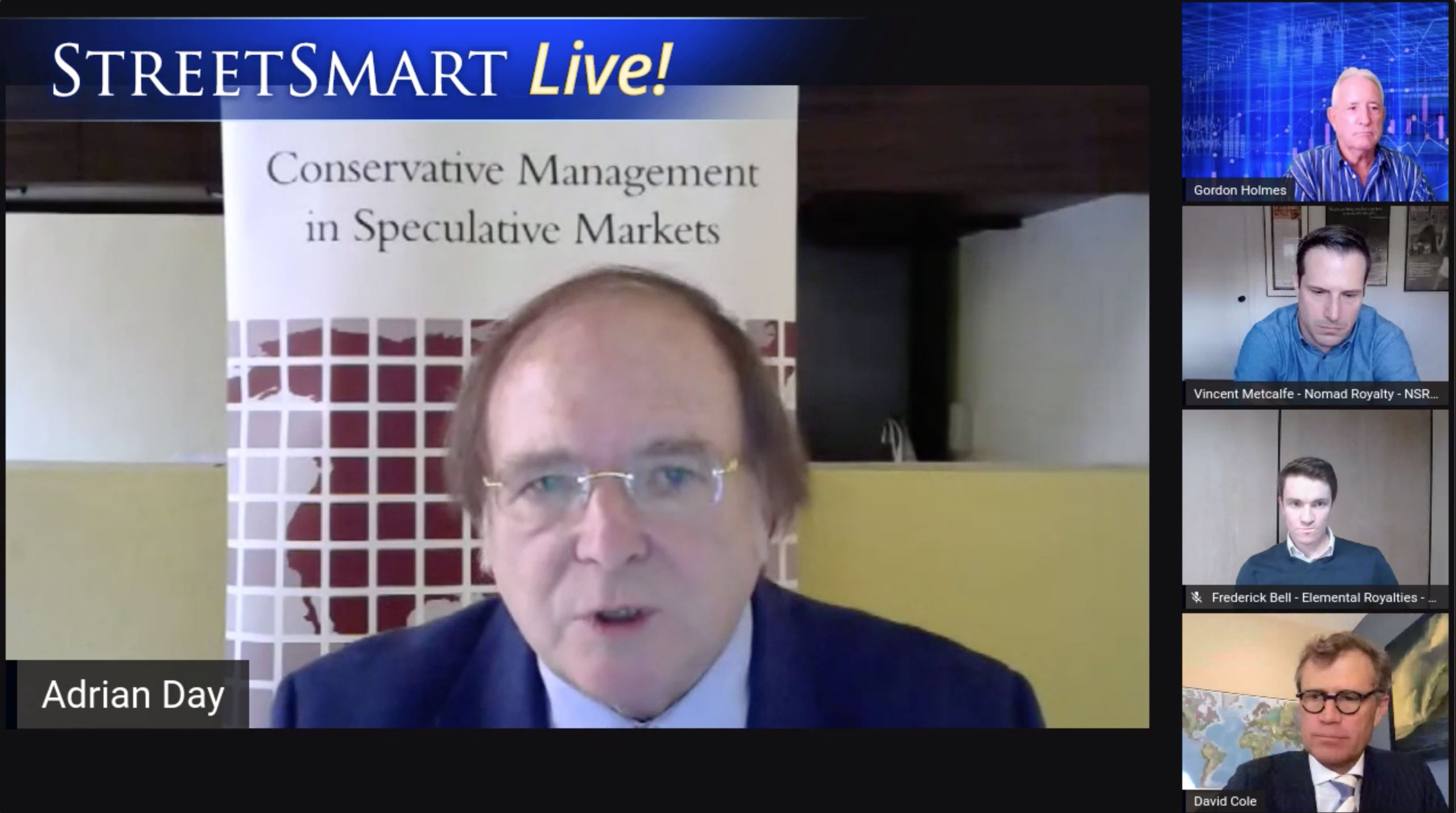 Watch StreetSmart Live!: Money Manager Adrian Day Presents Up and Coming Royalty Companies