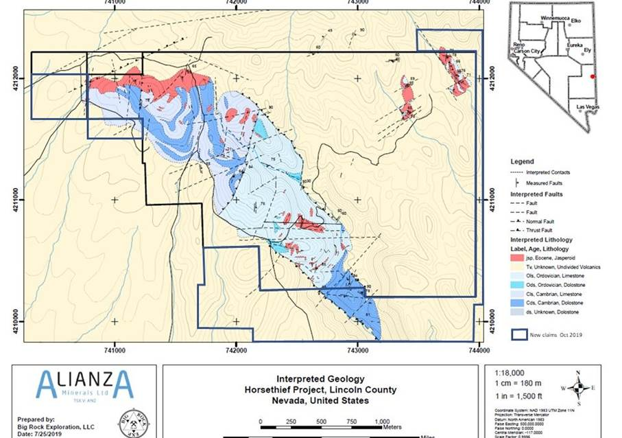 Alianza Minerals Identifies New Targets and Expands Horsethief Gold Project , NV