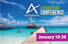AlphaNorth Capital Investment Conference JANUARY 18 � 20 2019