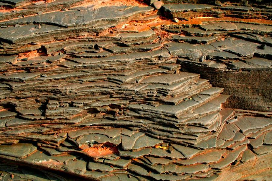 Copper Layers Rock