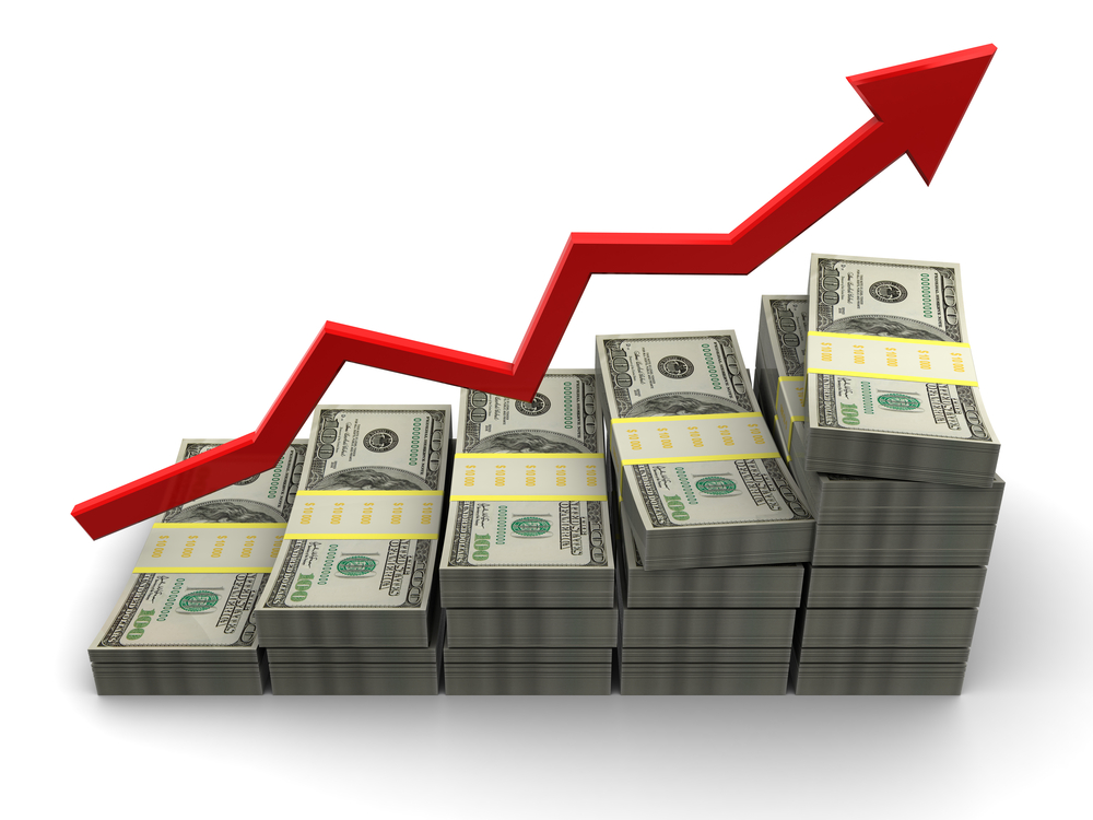 dollar up graph