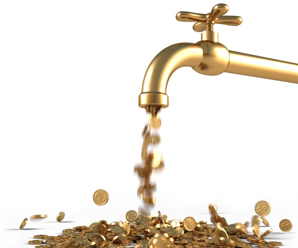 Faucet of gold