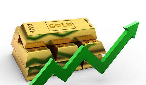 Gold bars graph