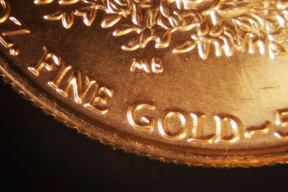 Fine gold coin