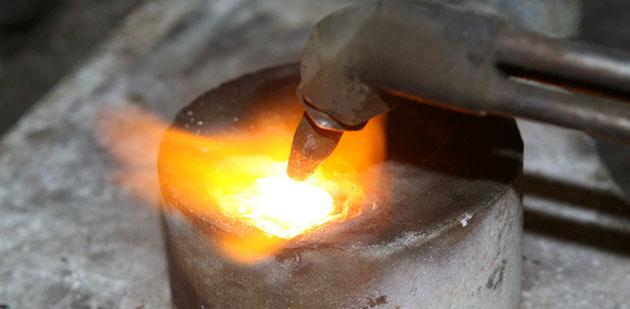Gold forging
