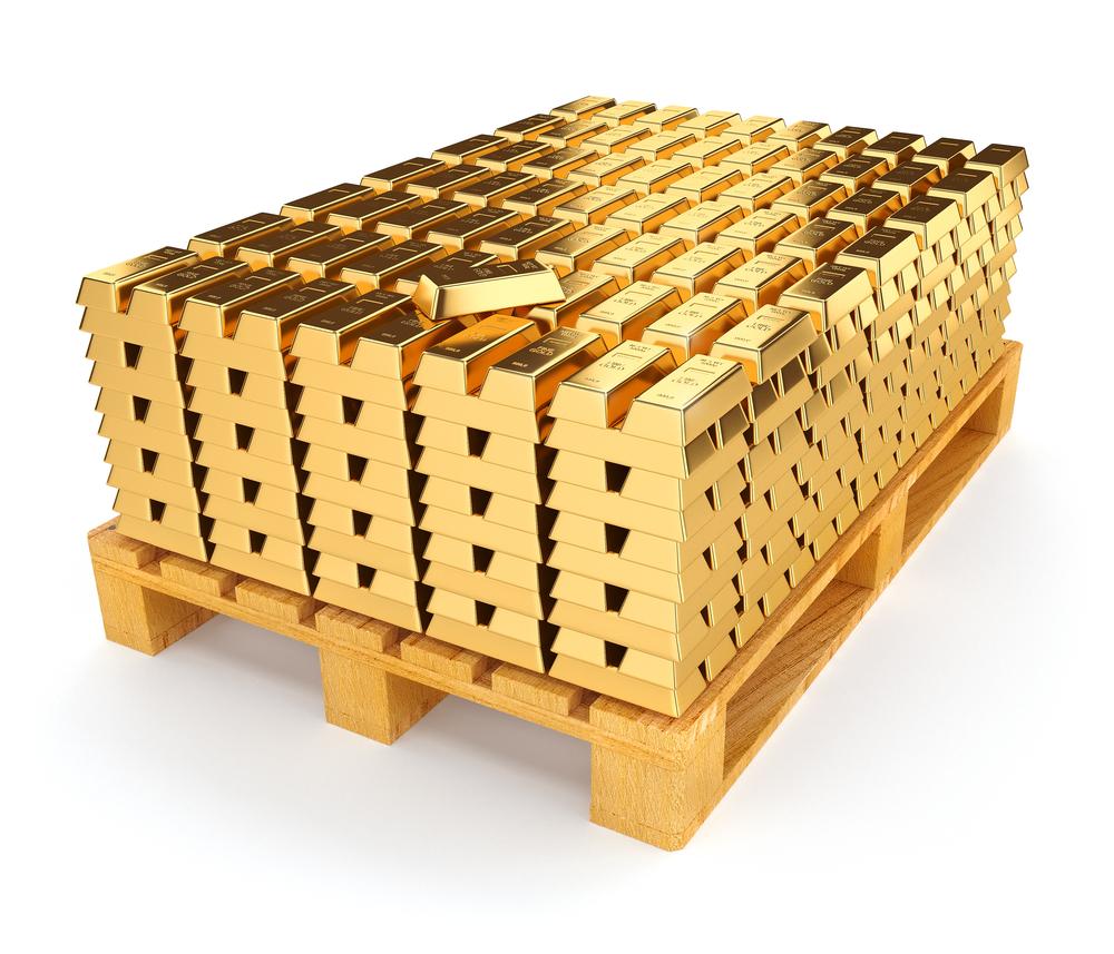 gold on pallet