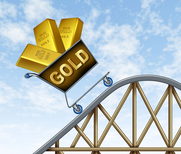 Gold roller coaster