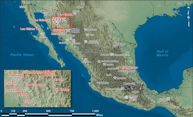 Mexico project map
