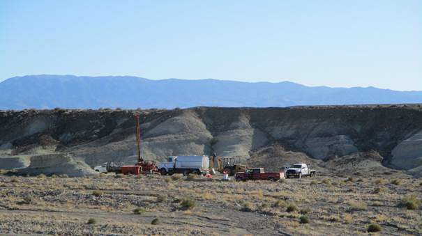 Drilling at Clayton Valley Lithium project, Nevada