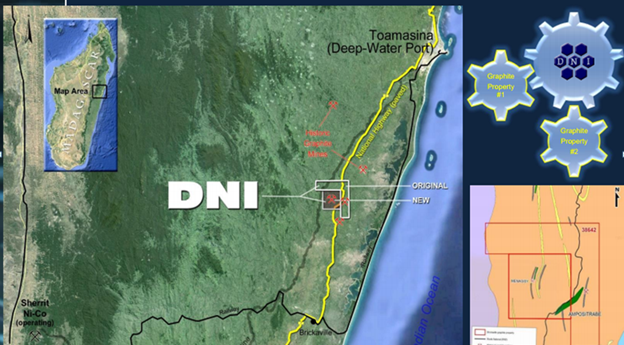 DNI Metals Project Map, Madagascar