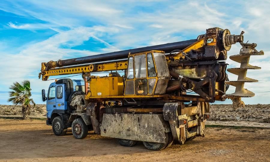 mining truck equipment palm tree