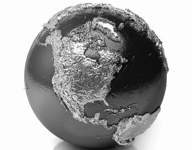 Silver globe