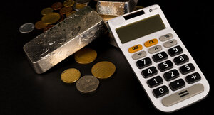 Coins and calculator